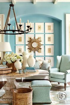 South Shore Decorating Blog: Manic Monday (#6) The colors are soooo relaxing and fresh crisp in the same time