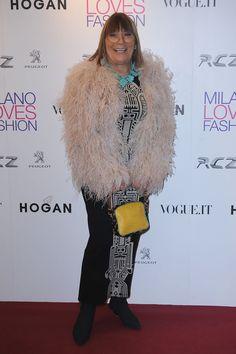 Hilary Alexander Photos Photos: Duran Duran Dinner And Concert - Milan Fashion Week Womenswear Autumn/Winter 2011 Fur Coat, Poses, Milan Fashion, Jackets, Autumn, Dinner, Concert, Style, Figure Poses