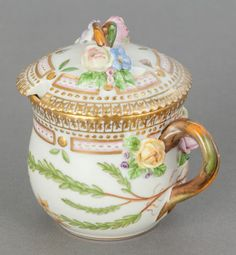 Ceramics & Porcelain, Continental:Contemporary   (1950 to present)  , A ROYAL COPENHAGEN FLORA DANICA COVERED MUSTARD POT. Circa1964. Marks: ROYAL COPENHAGEN, DENMARK, (undergla... Image #2