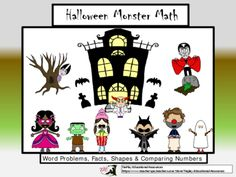 Halloween Monster Math from TiePlay Educational Resources LLC on TeachersNotebook.com -  (12 pages)  -  problem solving, number system and geometry skills