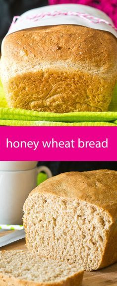 honey+wheat+bread+/+homemade+bread+recipe+/+bread+recipe+with+white+and+wheat+flour+/+soft+homemade+bread+/+wheat+bread+with+honey++via+@tastesoflizzyt