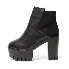 Contrast Back Side-Zippered Ankle Boots