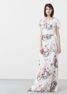 Lejąca wzorzysta sukienka