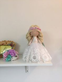 Sewing Crafts, Sewing Projects, Fabric Dolls, Rag Dolls, Soft Dolls, More Cute, Elsa, Flower Girl Dresses, Disney Princess