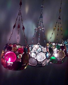 hanging candles - they look like jewels!