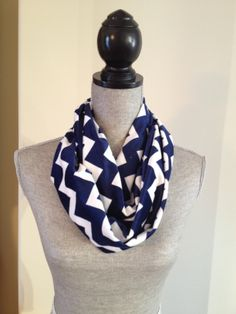 Chevron Microfleece Infinity Scarf in Navy: $15.00   This scarf is made from a microfleece that feels very light and soft against your skin. Your Skin, Chevron, Infinity, Feels, Navy, Fashion, Moda, La Mode, Fasion