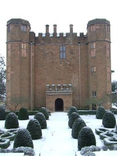 Kenilworth Castle amidst the snow ~ United Kingdom