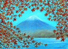 SeniorTip Mount Fuji, Volcanoes, Painters, Pastel, Watercolor, Statue, Mountains, Fuji Mountain, Pen And Wash