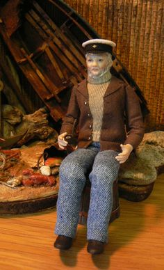 The Seafarer's Song - A Dollhouse Man of the Sea by Debbie Dixon-Paver