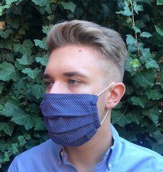 Behelfsmaske groß mit Aluminium Nasenbügel, Mund-Nasen-Abdeckung, MNS Maske, Gesichtsmaske, Face Mask, Behelfs- Mundschutz für Männer, Mann von CreativeHeartVienna auf Etsy Aluminium, Face, Etsy, Kissing Lips, The Face, Faces, Facial