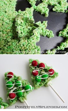 Make Rice Krispie treat pops. | 47 Unexpected Things To Do With Cookie Cutters