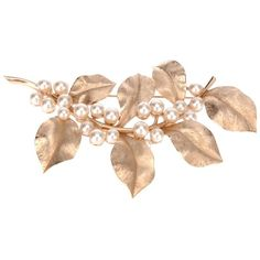 TRIFARI VINTAGE leaf brooch ($270) ❤ liked on Polyvore