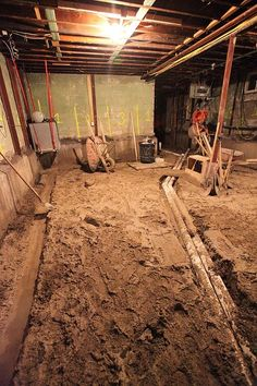 Step by step process underpinning foundation for a for Crawl space excavation cost
