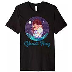 Adorable Ghost Hugs - Girl Ghost Hug, Mens Tops, T Shirt, Supreme T Shirt, Tee