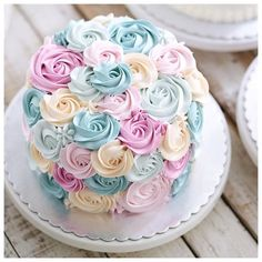 cake design by Pretty Cakes, Cute Cakes, Beautiful Cakes, Amazing Cakes, Keks Dessert, Bolo Cake, Rosette Cake, Mothers Day Cake, Occasion Cakes
