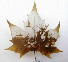art on leaf