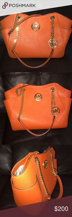 Authentic MK Orange Gold hardware New without tags Michael Kors Bags Satchels