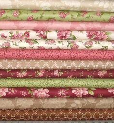 Graceful Moments Cotton Quilt Fabric Bundle, 12 Fabrics, Maywood Studio, Fat…