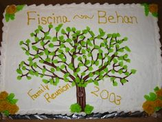 We will give you various cake design ideas for your reference Family Reunion Cakes, Family Reunions, Family Cake, Tree Cakes, Food Displays, Creative Cakes, Cake Designs, Amazing Cakes, Cake Recipes