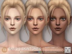 The Sims Resource: BASSIS ND skintones byS-Club • Sims 4 Downloads