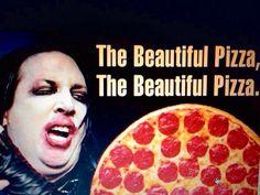 Marilyn Manson pizza meme funny