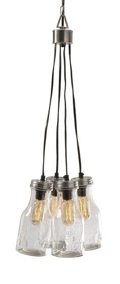 Cormack Glass 4 Bottle Cluster Pendant Light – Farmhouse Fresh Home®