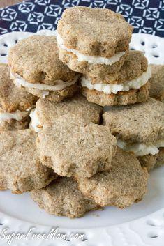 Sugar Free Grain Free Biscoff Cookies- a healthier copycat version!!