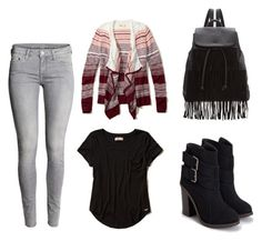 Untitled #31 by silverstars101 on Polyvore featuring Hollister Co., H&M, JustFab and Glamorous
