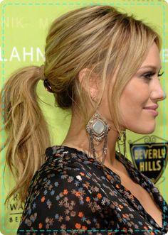 Hilary-Duff--textured-ponytails