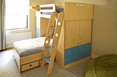 double bunks with wardrobe