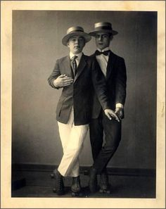 Vintage male couple before Stonewall, Gay Pride and Marriage Equality. Gay folks have been out there the whole time.