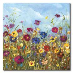 32_DOl59 _ Sunshine Meadow II / Cuadro Paisaje, Flores de Colores