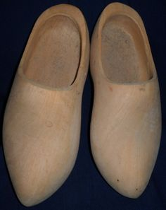 Unpainted Dutch Wooden Shoes by BigtreeVintage on Etsy, $16.00