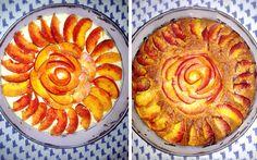 Peaches fluffy cake
