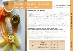 Roulades, tagliatelles, sauce de tomates séchées