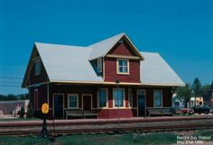 Barry's Bay Location: Barry's Bay, ON Type: Station Subdivision: Renfrew Date: May 1980 Photographer: Don Jaworski Ottawa Valley, Ontario, Places Ive Been, Beautiful Places, Cabin, Trains, House Styles, Train Stations, View Source