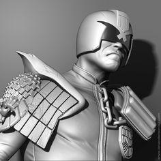 Judge Dredd sculpt