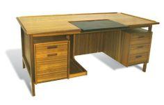 The Ergo Office Mid Century Danish Executive Computer Desk Man Cave Furniture, Home Office Furniture, Modern Furniture, Office Desk Set, Office Decor, Office Chairs, Modern Executive Desk, Contemporary Desk, Best Desk