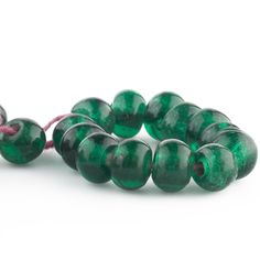 PACKAGE OF 10 ANTIQUE AFRICAN WATERMELON TRADE BEADS
