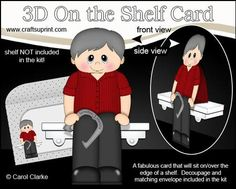 3D On the Shelf Card Kit Horseshoe Pitching Old Man Archie on Craftsuprint - View Now!
