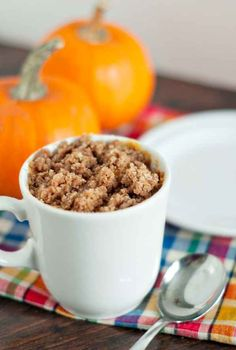 Pumpkin Coffee Cake and other mug breakfasts