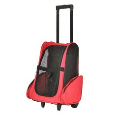 Red Dog Soft Sided Travel Rolling Bag Pet Carriers Cat Luggage BackPack >>> Check this awesome product by going to the link at the image. (This is an affiliate link) #DogCarriers