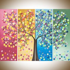 Colorful abstract Painting extra large wall art by QiQiGallery