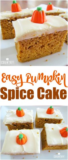 Easy Pumpkin Spice Cake recipe from The Country Cook
