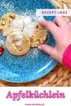 Heute gibt es gesunde Kekse von mir! Apfelküchlein oder auch Apfel-Butter-Kekse genannt. Diese Apfel Kekse sind ein super gesunder Snack für Zwischendurch. #apfelküchlein #apfelkekse #apfelkekserezepte #gesundekekse Foodblogger, Super, Fitness, Healthy Biscuits, Healthy Life, Recipes Dinner, Tips And Tricks