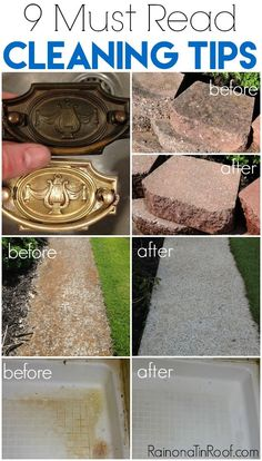 Had NO CLUE on most of these! Clean concrete blocks, hardware, sidewalks, EVERYTHING! Must Read Cleaning Tips