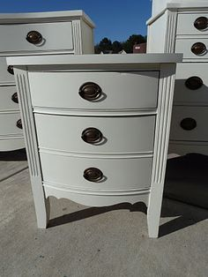 Sherwin Williams Muslin Antique White Bedroom Furniture Painting