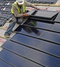 Solar Roof Tiles - Look much better than normal bulky solar panels! #techosverdes