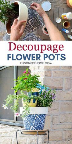 Painted Plant Pots, Painted Flower Pots, Paint Garden Pots, Flower Pot Crafts, Clay Pot Crafts, Clay Pot Projects, Flower Pot Art, Garden Crafts, Diy Garden Decor