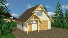 Rustic Boat Storage Garage Plan with Loft; 3 Car Garage Plans, Garage Plans With Loft, Garage Ideas, Cabin House Plans, Best House Plans, Prefab Garages, Apartment Plans, Barn Apartment, Traditional House Plans
